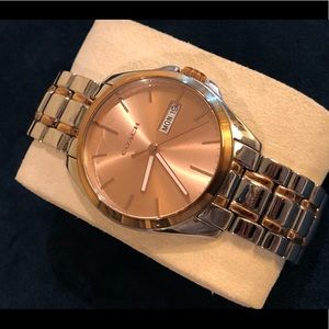 Rose Gold Toned Coach Watch for Women